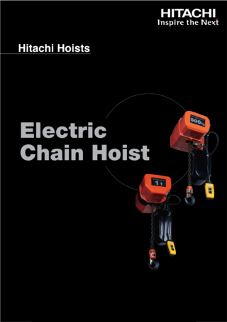 Catalog Pa lăng xích điện Hitachi 2019