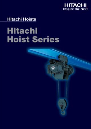 Ảnh Catalog sản phẩm Pa lăng Cáp điện Hitachi 2019