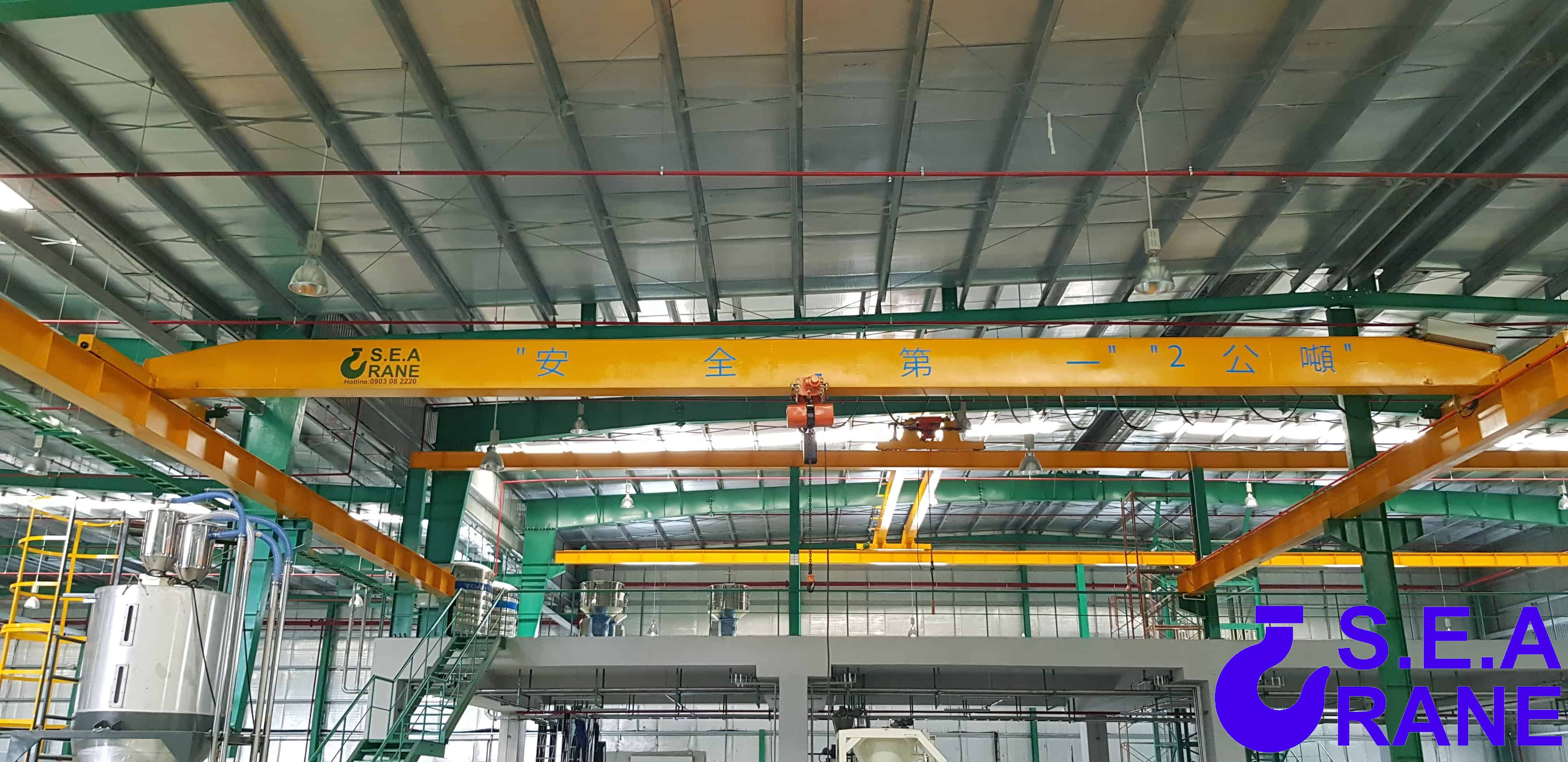 Cầu trục dầm đơn 2 tấn x 18 mét