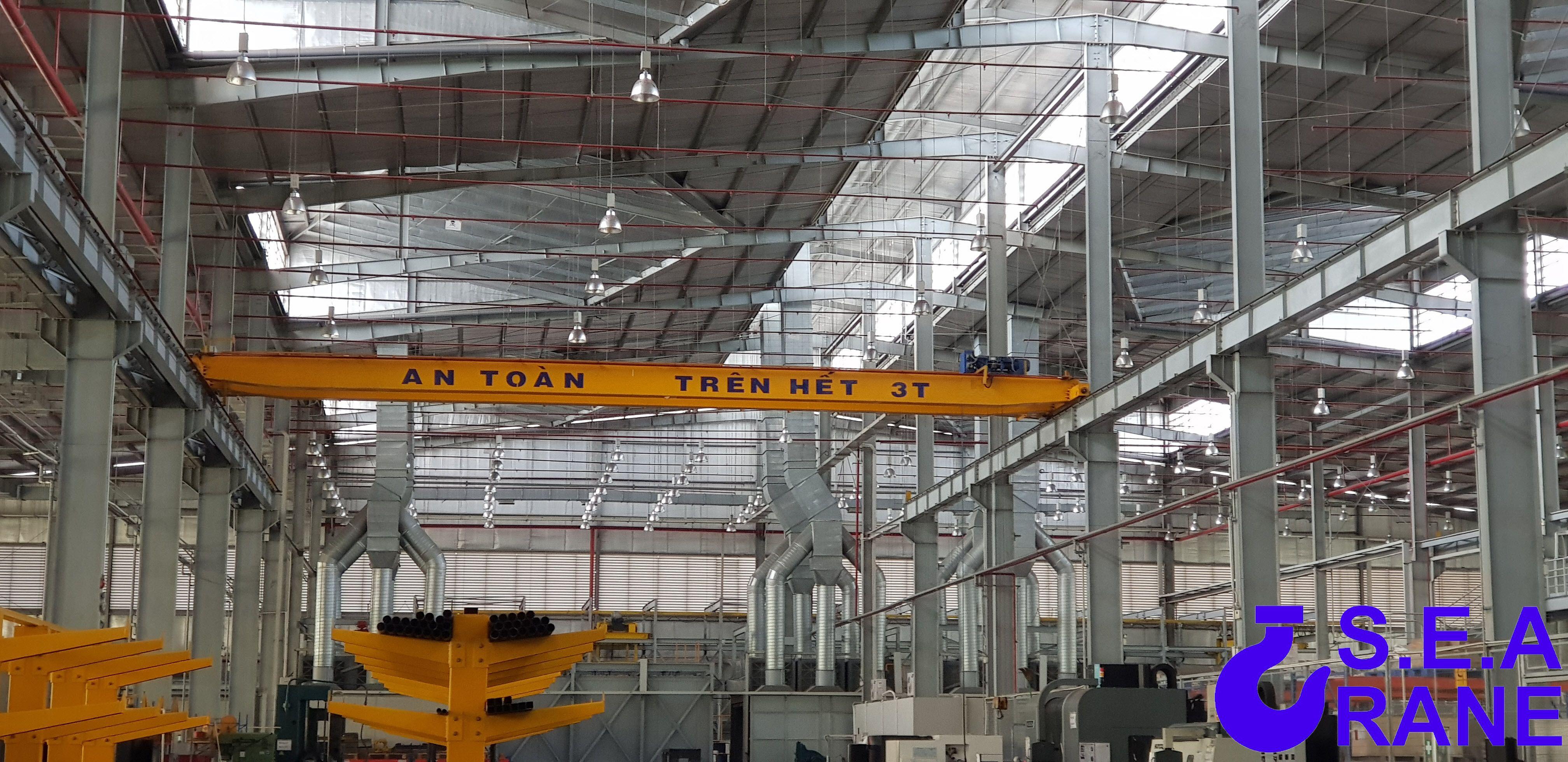 Cầu trục dầm đôi 3 tấn x 17 mét