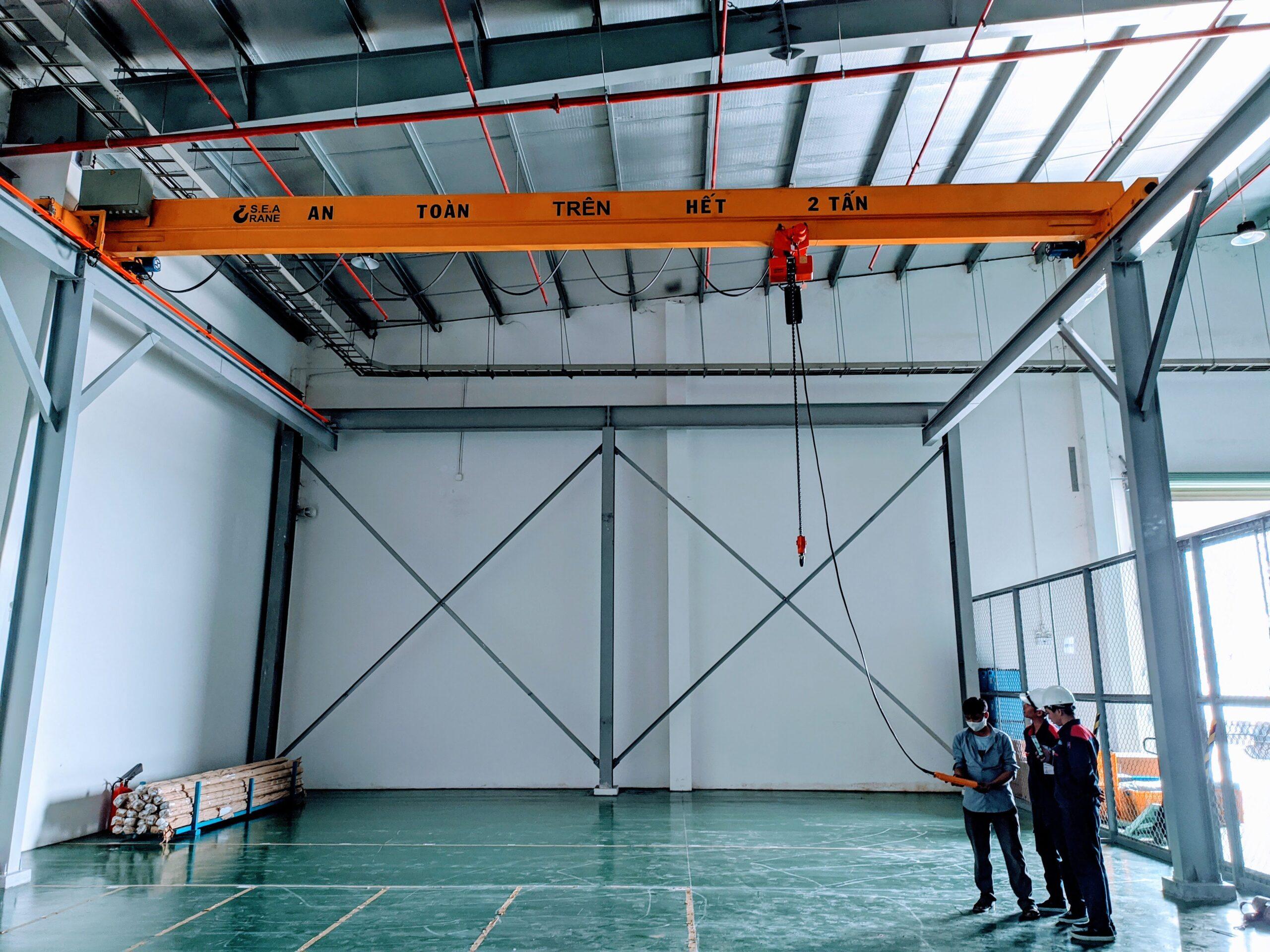 Cầu trục dầm đơn 2 tấn